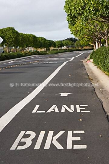 Bike lane, Redwood Shores, Redwood City, California, United States of America