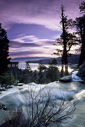 Twilight over Lake Tahoe as seen from the Nevada shoreline