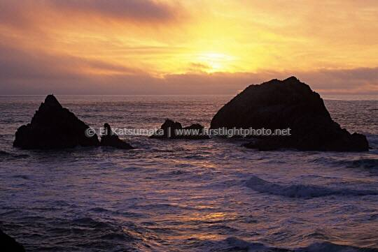 Seal Rocks during sunset, San Francisco, California