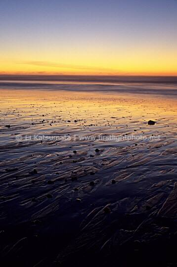 Rill patterns during sunset, San Gregorio State Beach, California, United States of America