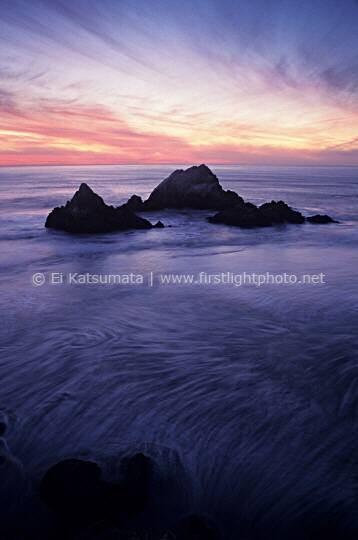 Twilight over Seal Rocks, San Francisco, California, United States of America