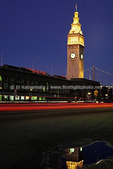 This photo of the Ferry Building on the San Francisco waterfront was taken in 1997 before being renovated between 1998 and 2003. San Francisco, California, United States of America