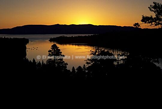 Dawn over Emerald Bay, Lake Tahoe, California
