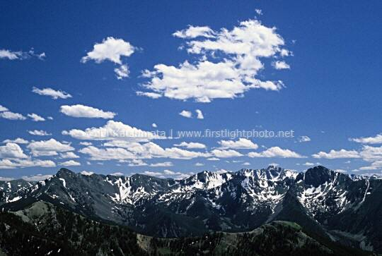 View of the Crazy Mountains from Livingson Peak, Absaroka-Beartooth Wilderness, Montana
