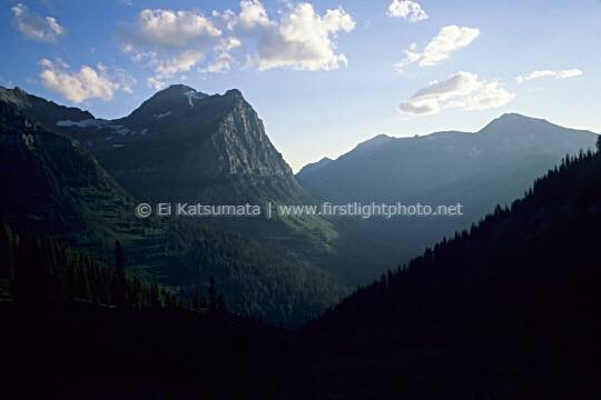 Late afternoon at Glacier National Park, Montana, United States of America