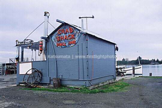 Crab Shack along the Eureka harbor, Humboldt County, California, United States of America