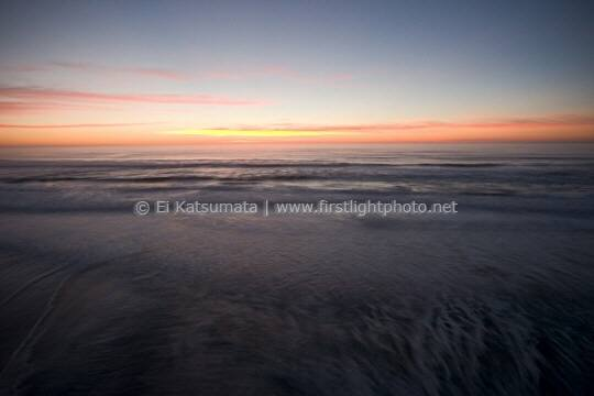 Sunset over the Pacific Ocean, San Gregorio State Beach, San Mateo County coast, California, United States of America