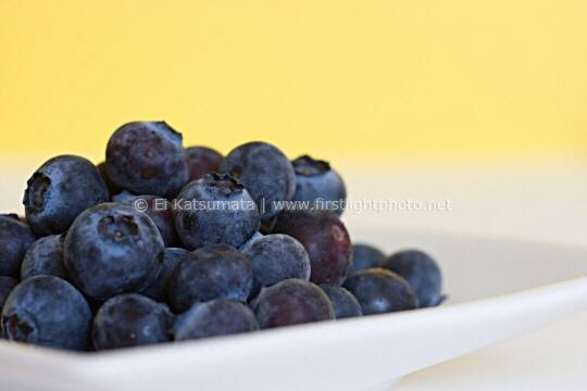 Blueberries on a plate