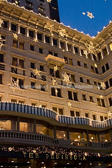 The Peninsula Hotel with holiday decoration, Tsim Sha Tsui, Kowloon, Hong Kong, China, Asia