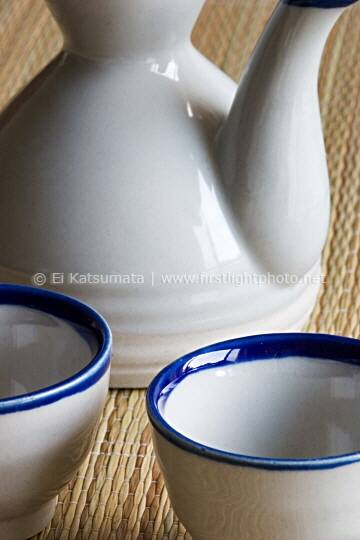 Japanese rice wine sake vessel