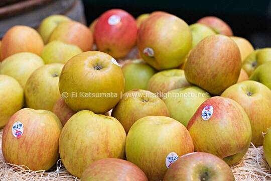 Fuji apples at the Ferry Building in San Francisco, California, United States of America