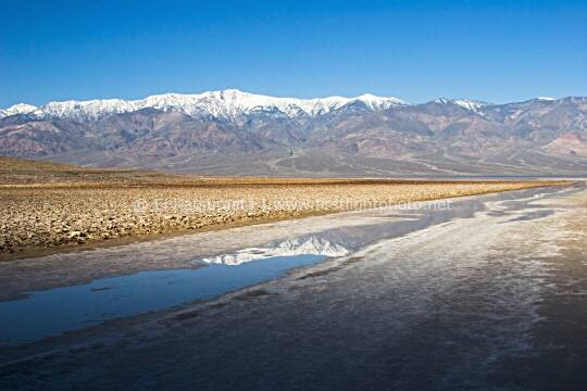 At 282 feet below sea level, Badwater is the lowest point in the western hemisphere and is located in Death Valley National Park, California, United States of America.