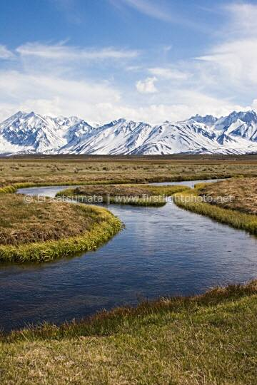 Upper Owens River valley in the Eastern Sierra near Mammoth Lakes, California