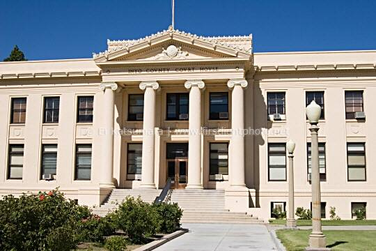 Inyo County Court House Building In The Town Of