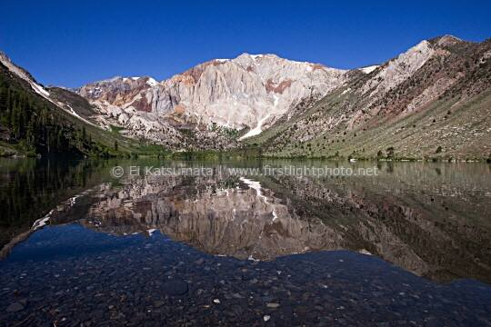 Convict Lake in the Eastern Sierra Nevada with Laurel Mountain in the background, Inyo National Forest, California