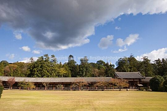 The east wall of todaiji temple in nara kansai region japan