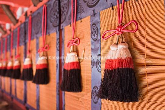 Decorative tassels at Fushimi Inari Shrine, Kyoto, Kansai Region, Japan