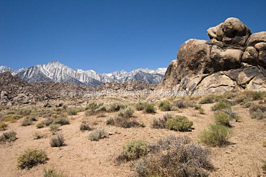 Alabama Hills near Lone Pine in the Owens Valley, California