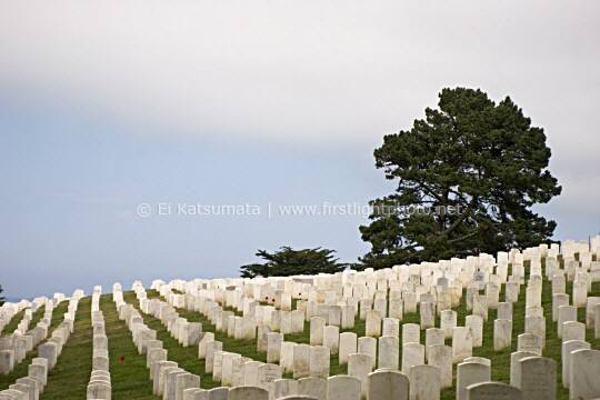 San Francisco National Cemetery in the Presidio of San Francisco, Golden Gate National Recreation Area, California